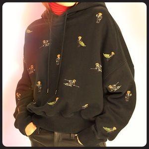 Polo Ralph Lauren bear print hoodie. NWOT